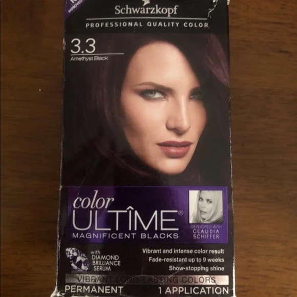 New Schwarzkopf Amethyst Black 3 3 Hair Color Nwt